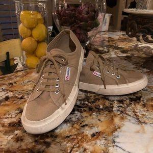 Superga Khaki Canvas Sneakers
